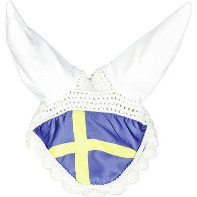 HKM Bonnet Anti-Mouches Flags Drappeau Suède Poney