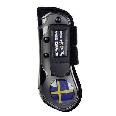 HKM Protèges-Tendons Flags Jambes Avant Drappeau Suède Poney