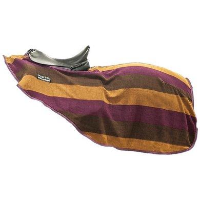 Hkm Zweetdeken Kleur Stripes Klitband Paars/bruin 165/215
