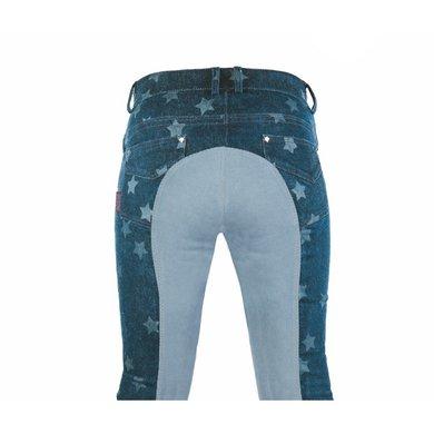 Bibi & Tina Rijbroek Stars 3/4 Alos Zitvlak Jeansblauw