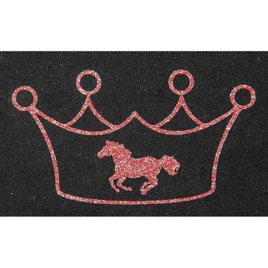 Strijkmotief Kroon Met Paard Rood Flex Moda Glitter