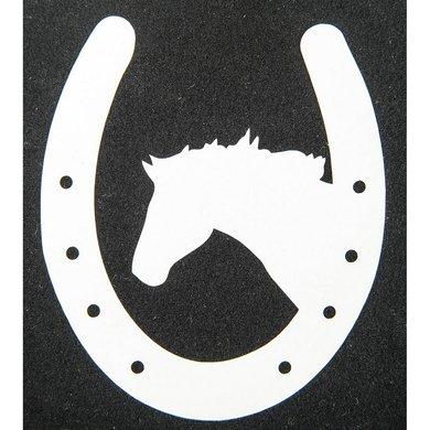 Strijkmotief Hoefijzer Met Paard Wit 5st