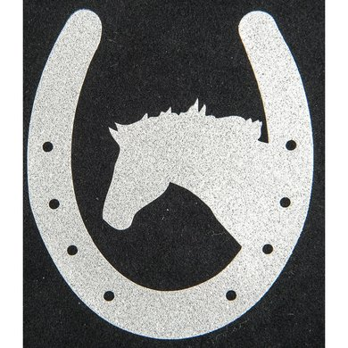 Strijkmotief Hoefijzer Paard Zilver Flex Moda Glitter 5st