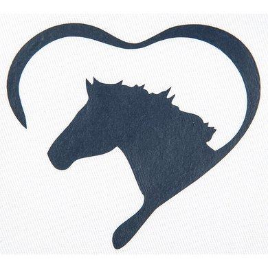 Strijkmotief Hart Met Paard Marineblauw