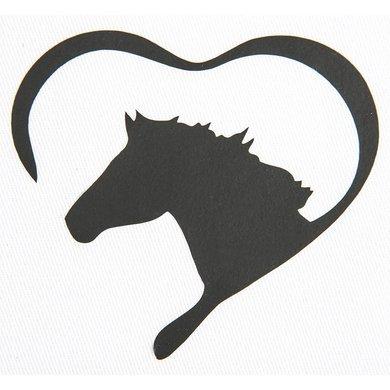Strijkmotief Hart Met Paard Zwart 5st