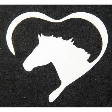 Strijkmotief Hart Met Paard Wit