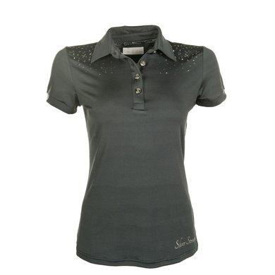 HKM Dames Poloshirt Silver Stream Donkerblauw M