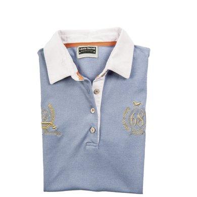 Lauria Garrelli Dames Poloshirt Golden Gate Rookblauw L