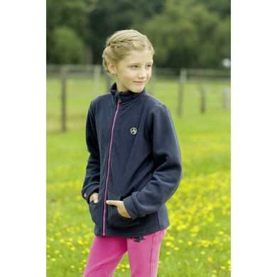 Little Sister Fleecejas Sweetheart Donkerblauw 98/104