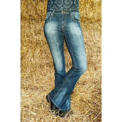 Hkm Western Jeans Bootcut Florida Jeansblauw 68