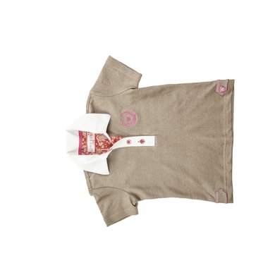 Little Sister Poloshirt Sweetheart Taupe 134/140