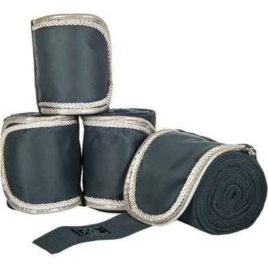 HKM Bandages Premium Blue/Silver 200cm