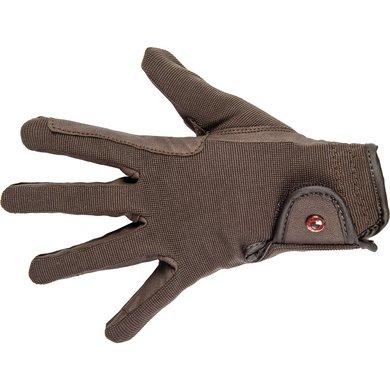 Hkm Rijhandschoenen Professional Soft Grip Donkerbruin S