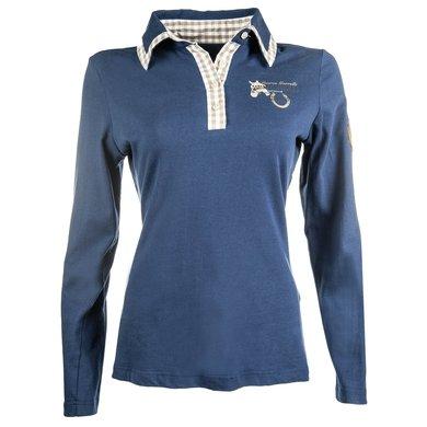 Lauria Garrelli Shirt Met Lange Mouw Roma Middelblauw S