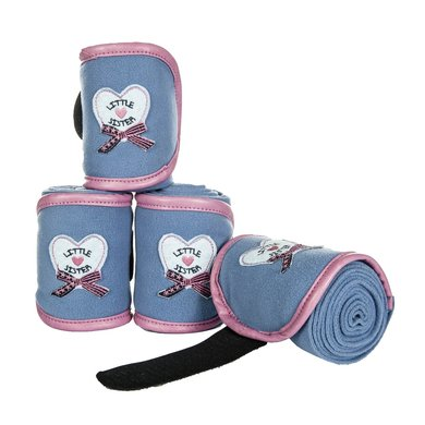 Little Sister Polarfleecebandages Paradiso Rookblauw 100 Cm