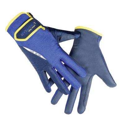 Hkm Pro Team Handschoenen Flash Donkerblauw/kobaltblauw L