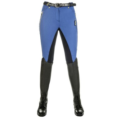 Hkm Pro Team Rijbroek Flash 3/4 Alos Zitvlak Kobaltblauw 46