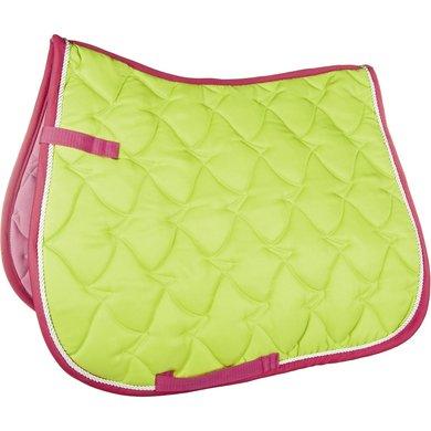 Hkm Zadeldek Brasil Neongroen/ Pink Dressuur