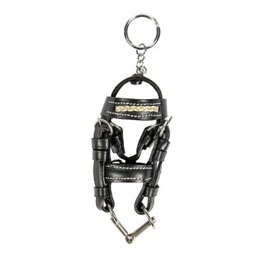 Hkm Sleutelhanger Mini Hoofdstel Zwart/goud