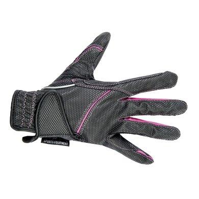 Hkm Rijhandschoenen Fashion Zwart/roze M
