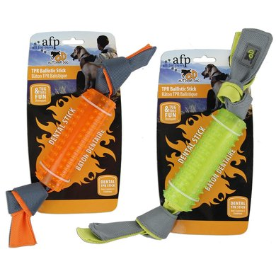 All For Paws Outdoor Ballistic Tpr Stick Oranje/Groen