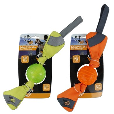 All For Paws Outdoor Ballistic Tpr Toss Oranje/Groen