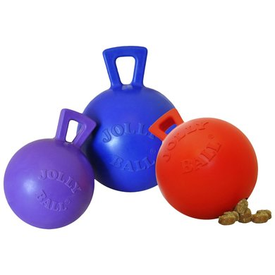Jolly Ball Tug-n-toss Mini Treat Dispensing Rood 7,5cm