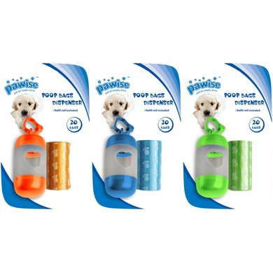 Pawise Poop Bags Dispenser With Refill 2x20st
