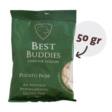 Best Buddies Chips Potato Pads Groen 50g