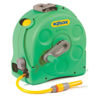 Hozelock Compact Enclosed Reel 2 In 1 incl 25m Slangstartset