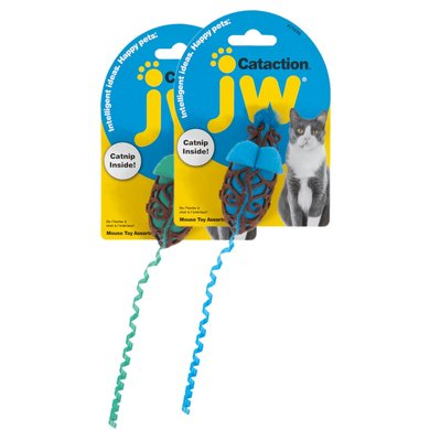JW Cataction Mouse Toy Assorti