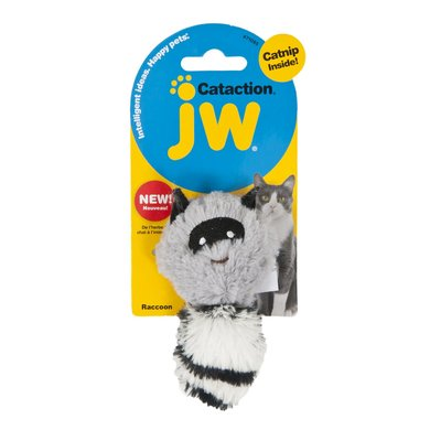 JW Plush Catnip Raccoon