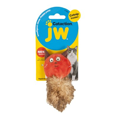JW Plush Catnip Squirrel