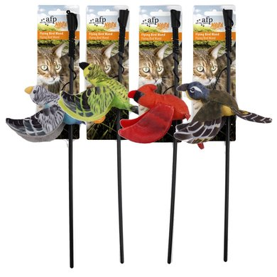 All For Paws Naturel Flying Bird Wand Assorted