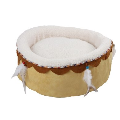 All For Paws Dream Catcher Round Cuddler Bed Sandcolor