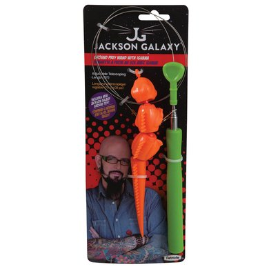Jackson galaxy ground wand with iguana 25cm for Jackson galaxy pet toys
