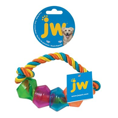Jw Treat Pod Rope Ring Small Multi Color 17,8cm