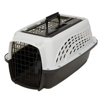 Petmate 2 Door Top Load Kennel (<4,5kg) Wit/bruin 48cm