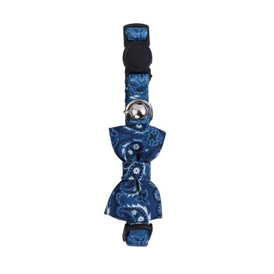 Agradi Collier de Chat with Bowknot Bleu
