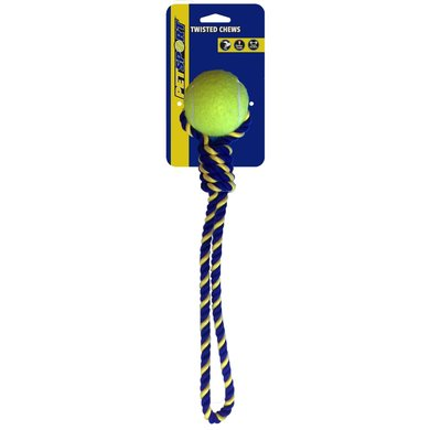 Knotted Cotton Rope Tug With Tuff Ball 6cm