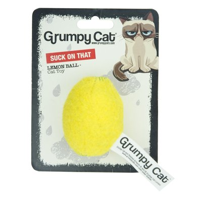 Grumpy Cat Lemon Balls Suck On That Cat Toy