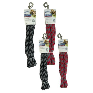 Dog Reflective Leash Zwart 120cm