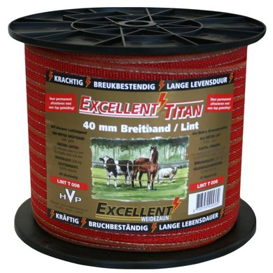 Excellent Lint Titaan Rood/goud 200m/40mm
