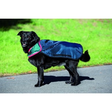 Rambo Waterproof Dog Rug 100g Navy/Red XS
