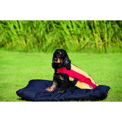 Rambo Deluxe Dog Rug WhitneyNavy Medium