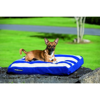 Rambo Deluxe Dog Bed WhitneyNavy Medium