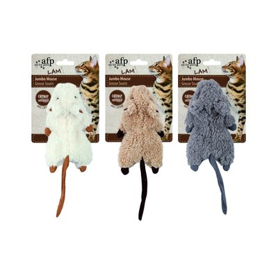 All For Paws Jumbo Cirnckle Catnip Rodent Lammfell