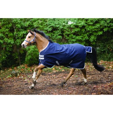 Amigo Pony Bravo-12 Turnout Medium Navy/Silver 75/114