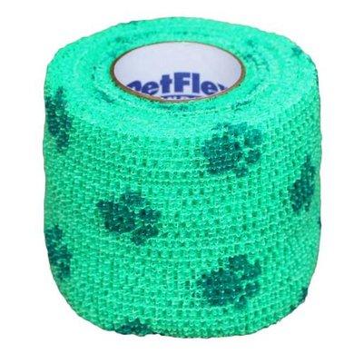 Petflex Bandage Imprimé pattes vert 5cm