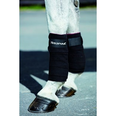 Horseware Fleece Bandages Black/Red One Size